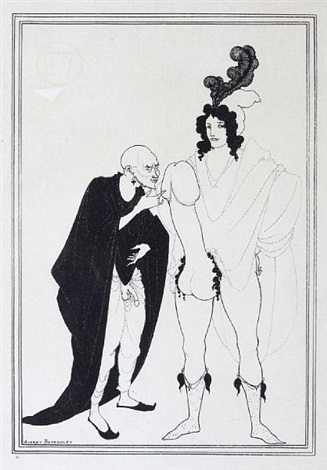 cinesias soliciting myrrhina from aristophanes lysistrata 4 others 5 works by aubrey vincent beardsley