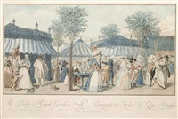 the palais royal garden walk (after claude louis desrais) by louis le coeur
