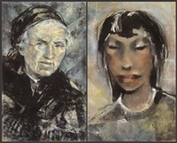 lot von 8 federzeichnungen (8 works) by paul august kontny