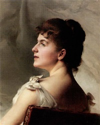 a portrait of a lady in profile by paul françois quinsac