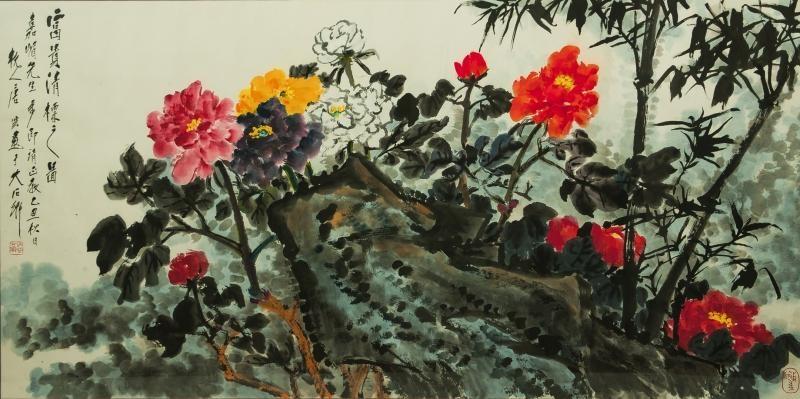 富贵清标 peony flower by tang yun