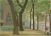 1. skizze heinrichplatz spandau (+ 2 others; 3 works) by karl godeg