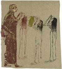 goddess and mourning women by nancy spero