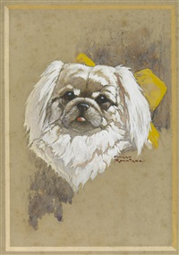 portrait of a dog by harry rountree