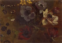 a study of wildflowers by marius theodore astruc