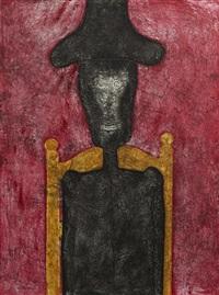 hombre en negro by rufino tamayo