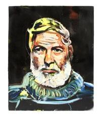 portrait of ernest hemingway by david gant