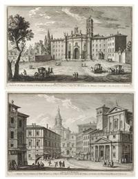basilica di s. croce in gerusalemme und chiesa di s. eustachio (2 works) by giuseppe vasi