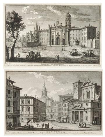basilica di s croce in gerusalemme und chiesa di s eustachio 2 works by giuseppe vasi
