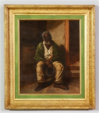 elderly african american man by harry herman roseland