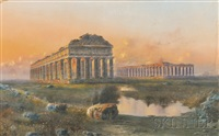 temples of paestum by giovanni battista