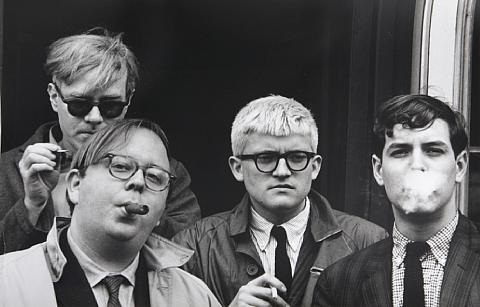 andy warhol henry geldzahler david hockney and jeff goodman by dennis hopper