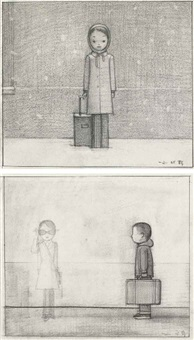 sketch for leave me in the dark; untitled (2 works) by liu ye