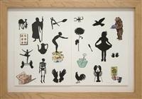 silhouettes diptych by jane hammond