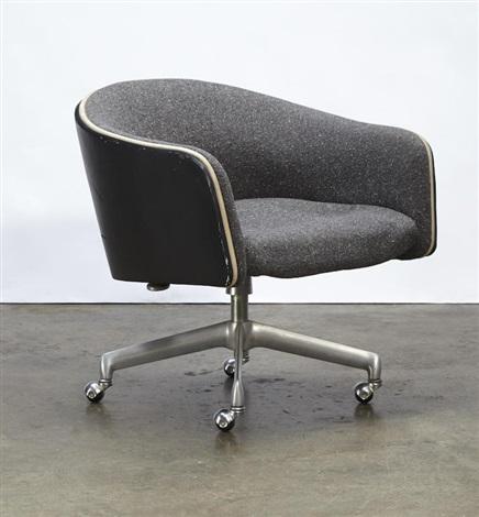 Marvelous Desk Chair By Alexander Girard On Artnet Theyellowbook Wood Chair Design Ideas Theyellowbookinfo