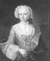 portrait einer vornehmen dame by j.c. rithmann