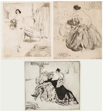 Erotische Szenen 8 works by Franz von Bayros on artnet