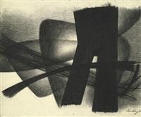 rhythmische komposition (charcoal drawing i) by jürgen von hündeberg