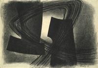 rhythmische komposition (charcoal drawing ii) by jürgen von hündeberg