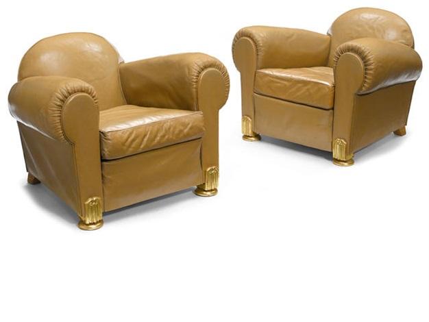 armchairs pair by émile jacques ruhlmann