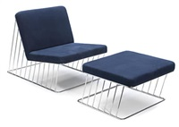 lounge chair and ottoman with a coffee table (set of 3) by phase design