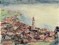 norditalienische hafenstadt (+ venedig; 2 works) by heinrich linde-walther