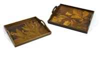 trays (set of 2) by cristallerie d'emile gallé