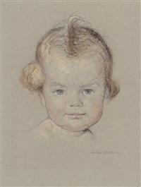 porträt eines kleinkindes (+ 17 others; 18 works) by heinrich linde-walther