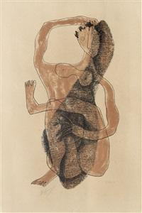 femme assise à la jambe levée by henri laurens
