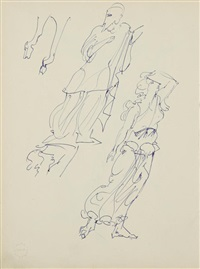 a group of eight sketches by alek rapoport