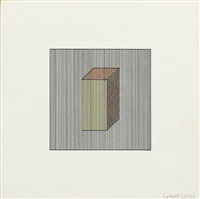 forms derived from a cube 5 (from twelve forms derived from a cube) by sol lewitt