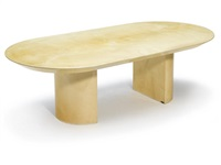 pedestal dining table by karl springer