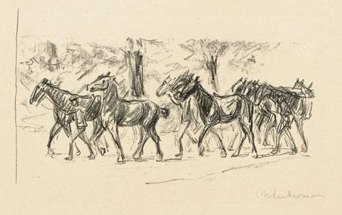 geführte pferde by max liebermann