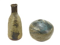 bottle and plate (set of 2) by robert arneson