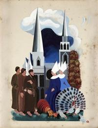 illustration for françois villon's 'les lais' by alexandra exter