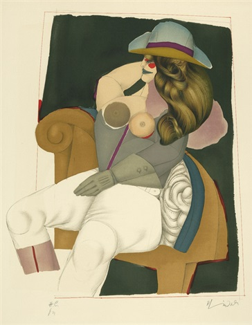 reiterin in einem sessel doorman 2 works by richard lindner