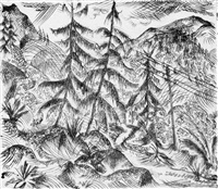 berge mit tannen by paul adolf seehaus