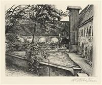 klosterhof in grüssau/schlesien by ludwig meidner