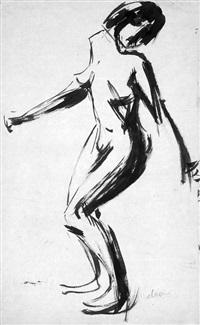 tanzender weiblicher akt by moritz (moriz) melzer