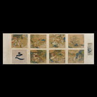 seven album leaves and a calligraphy work (8 works mounted as 1) by anonymous-chinese (qing dynasty)