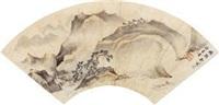 清山泛舟图 by xiang dexin