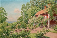 in the garden by johan fredrik krouthen