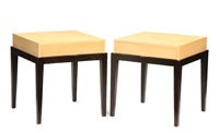 side tables (pair) by christian liagre
