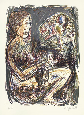 frau und tier another 2 works by ar penck