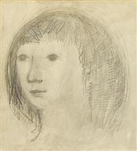portrait of a boy by bjørn wiinblad