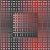 abstrakte geometrische komposition by victor vasarely