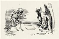 zu tod und teufel aus der schachspielreihe by andreas paul weber