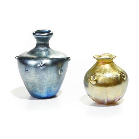 vases set of 2 by louis comfort tiffany