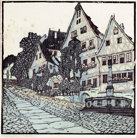 marktplatz in miltenberg by carl theodor thiemann