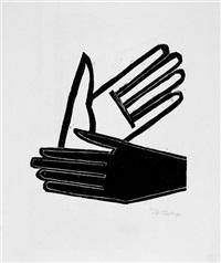 schwarze und weiße hand by werner gothein